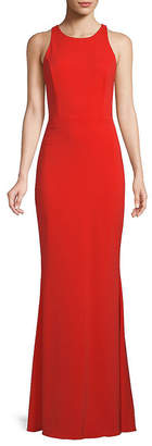 Marchesa Embellished Stretch Crepe Gown