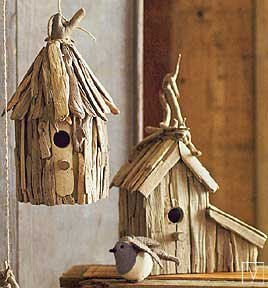 Roost Driftwood Birdhouses