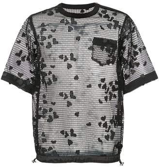 Sacai drawstring mesh shirt