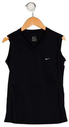 Nike Girls' Sleeveless V-Neck Top