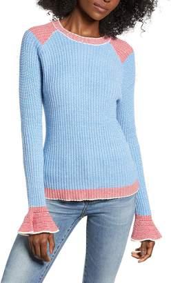 ENGLISH FACTORY Two-Tone Rib Sweater