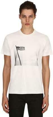 Calvin Klein Andy Warhol American Flag Print T-Shirt