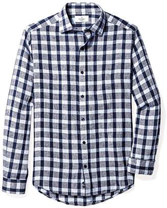 Buttoned Down Men's Fitted Spread-Collar Dress Casual Shirt