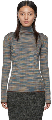 M Missoni Grey Lurex Turtleneck