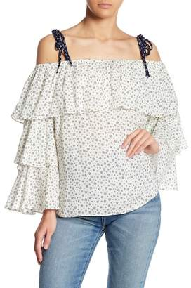 Endless Rose Tiered Off-the-Shoulder Tie Strap Top