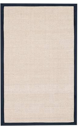 Pottery Barn Teen Shoreline Jute Chenille Border Rug, 8'x10', Navy