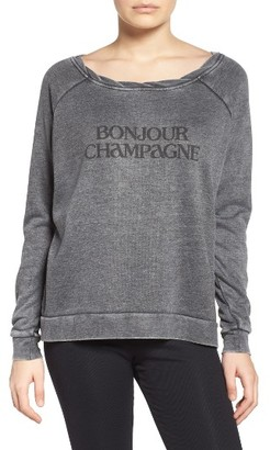 Women's The Laundry Room Bonjour Sweatshirt $88 thestylecure.com