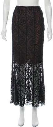 Chanel Lace Maxi Skirt