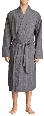 Polo Ralph Lauren Checkered Self-Tie Robe