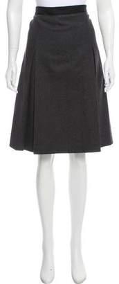 Miu Miu Wool Knee-Length Skirt