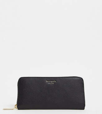 Kate Spade black slim continental leather purse