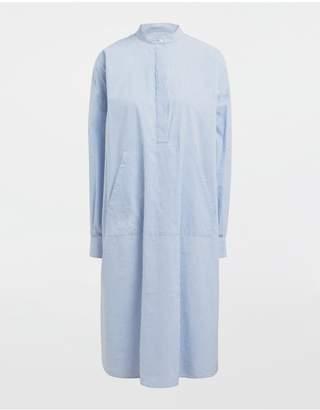 Maison Margiela Logo-Print Poplin Shirt Dress