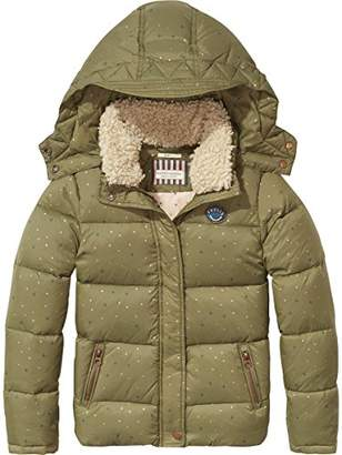 7242a37b74068 ... Scotch   Soda R Belle Girl s Teddy Collar Bedruckt Down Jacket ...