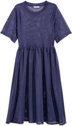H&M Mesh Dress - Blue