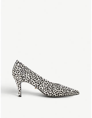 Dune Ari animal-print suede courts