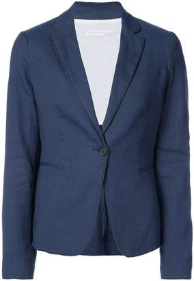Fabiana Filippi contrast piping blazer
