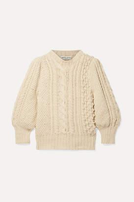 Apiece Apart Ermita Cable-knit Cotton Sweater - Cream
