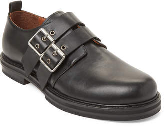 Damir Doma Black Double Strap Derby Shoes