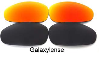 Oakley Galaxylense Galaxy Replacement Lenses for Juliet Black&Red Polarized 2 Pairs