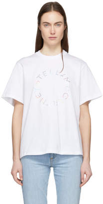 Stella McCartney White Foil Print T-Shirt