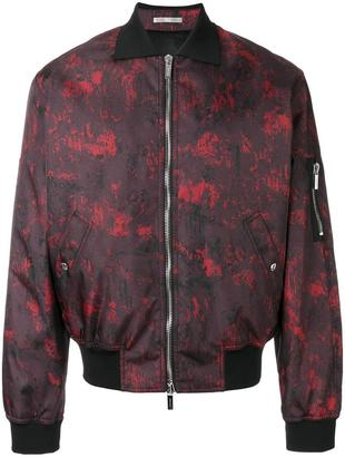Dior Homme abstract print bomber jacket $1,955 thestylecure.com