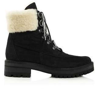 Timberland Women's Courmayeur Valley Round Toe Suede & Shearling Boots