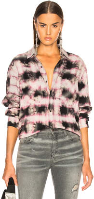Amiri Tie Dye Loose Fit Plaid Shirt