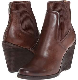 Frye Carrie Scrunch Back Zip Cowboy Boots