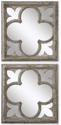 Uttermost Vellauni Quatrefoil Mirrors, Set of 2