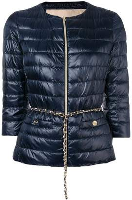 Herno crop sleeve puffer jacket