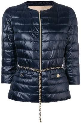 Herno crop sleeve puffer jacket