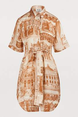 Acne Studios Printed midi dress
