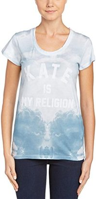 Eleven Paris Women's Kate Is My Religion Sky Printed Short Sleeve Tee $9.99 thestylecure.com