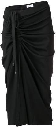 Gaelle Bonheur side ruched midi skirt