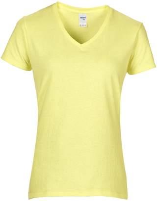 Gildan Womens/Ladies Premium Cotton V-Neck T-Shirt (L)