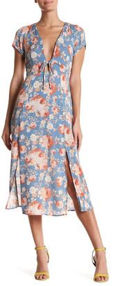 Dee Elly Short Sleeve Floral Print Dress