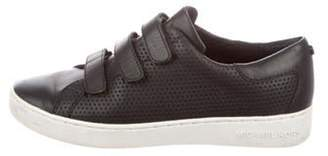 MICHAEL Michael Kors Leather Low-Top Sneakers Black Leather Low-Top Sneakers