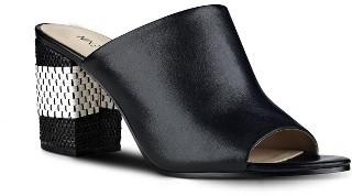 Women's Nine West Gemily Block Heel Slide Sandal $88.95 thestylecure.com