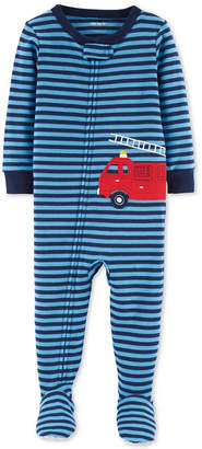 Carter's Carter Baby Boys Fire Truck Footed Cotton Pajamas