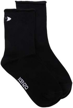 Kenzo logo embroidered socks