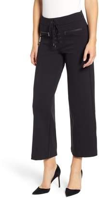 Paige Nellie Lace-Up High Waist Culotte Jeans