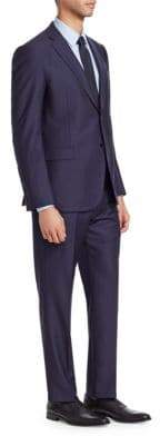 Emporio Armani M Line Wool Fine Striped Suit