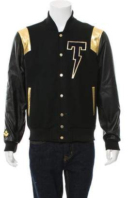 Tackma Wool & Leather Varsity Jacket w/ Tags