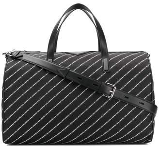 Karl Lagerfeld K/Stripe logo nylon weekender