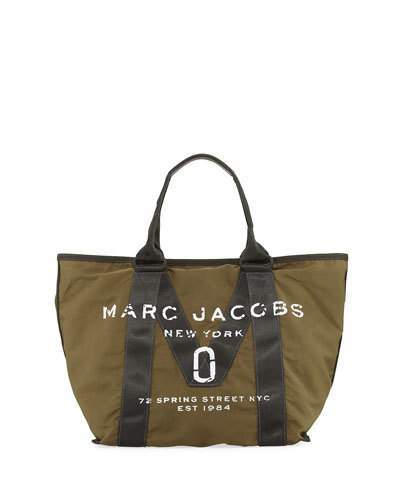 Marc Jacobs Marc Jacobs New Logo Fabric Tote Bag, Army Green
