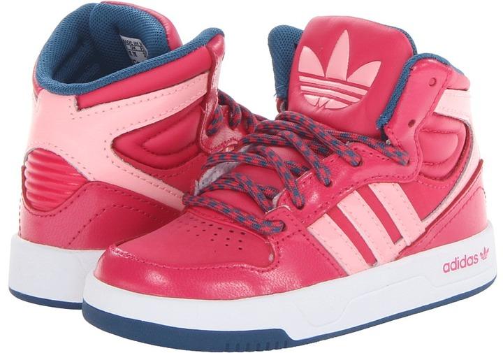 adidas Kids - Court Attitude (Infant/Toddler) (Vivid Berry/Glow Pink/White) - Footwear