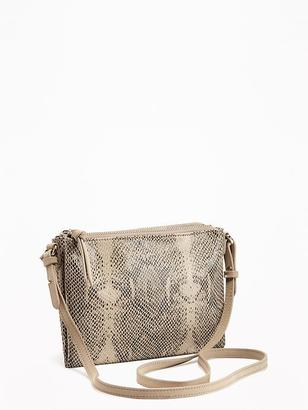 Double-Zip Crossbody Bag for Women $26.94 thestylecure.com