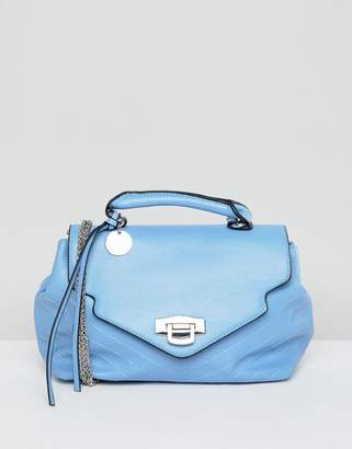 Sisley Chain Detail Blue Bag