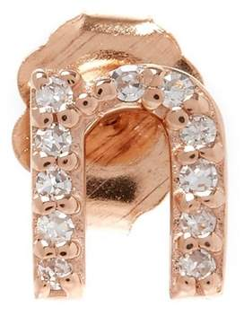 KC Designs Rose Gold Diamond N Single Stud Earring