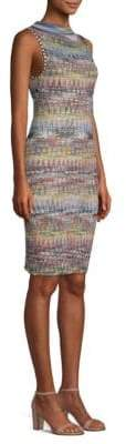 Missoni Embroidered Zig-Zag Bodycon Dress
